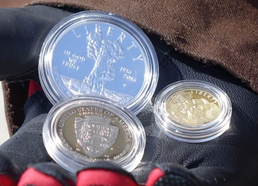 Photo of three NPS coins