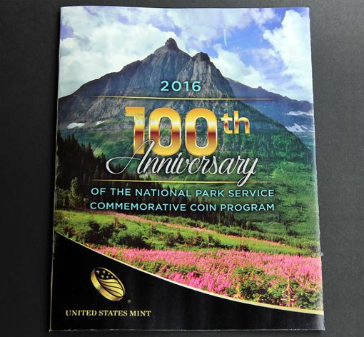 US Mint Brochure on 2016 National Park Service 100th Anniversary Commemorative Coins