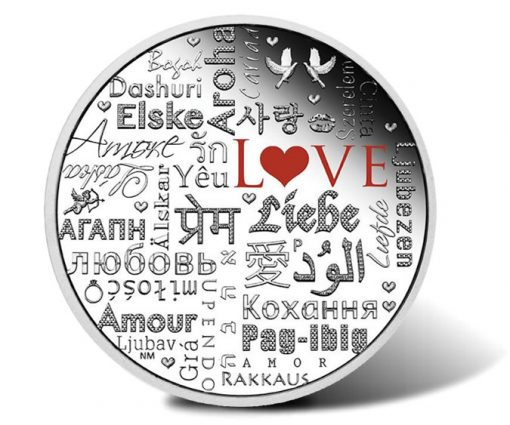 2016 $2 Language of Love 2 oz Silver Proof Coin