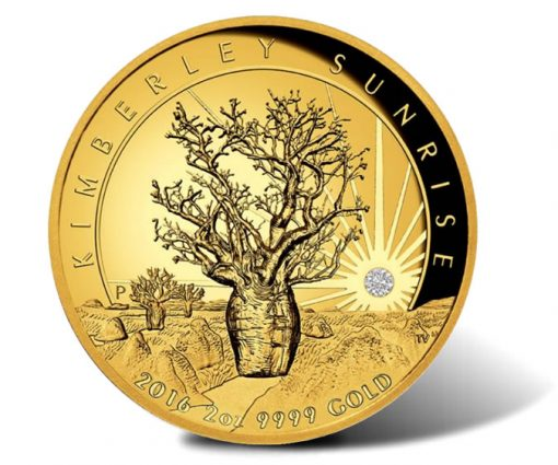 2016 $500 Kimberley Sunrise 2 oz Gold Proof High Relief Coin