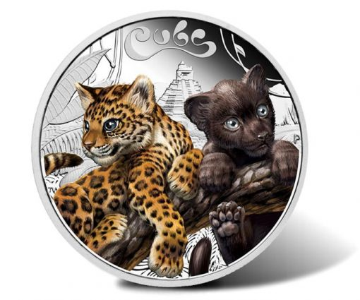 2016 50c Jaguar Cubs 1/2 oz Silver Proof Coin