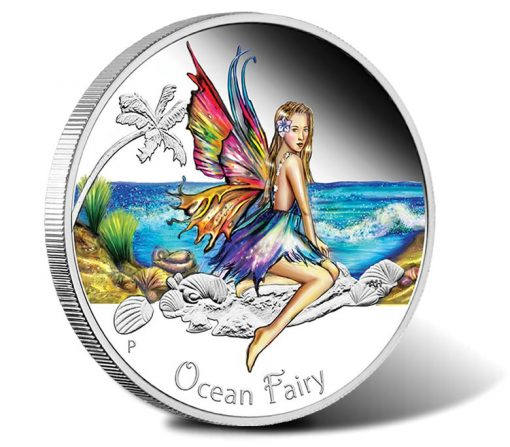 2016 50c Ocean Fairy Silver Proof Coin