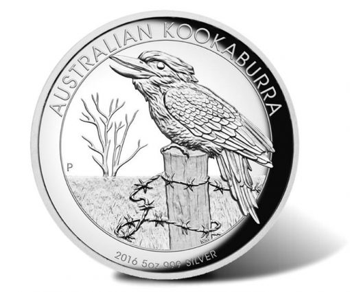 2016 $8 Australian Kookaburra 5 oz Silver Proof High Relief Coin