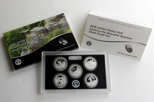 2016 America the Beautiful Quarters Silver Proof Set Photo