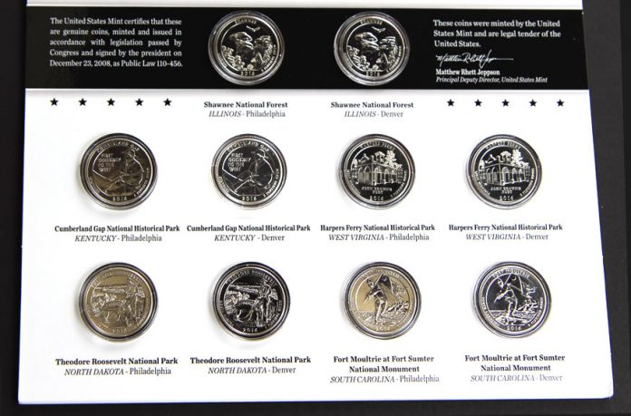 2016 America the Beautiful Uncirculated Quarters