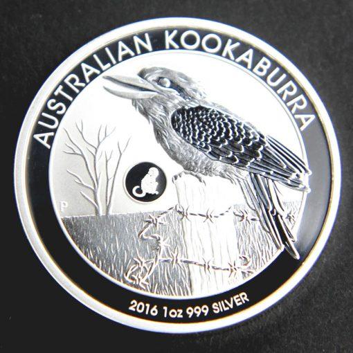2016 Australian Kookaburra Silver Bullion Monkey Privy Coin, Reverse