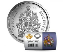 2016 50c Canadian Circulation Rolls in Special Wrap