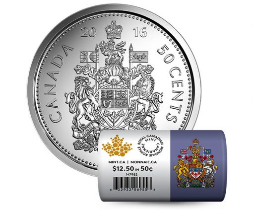 2016 Canadian 50c Special Wrap Circulation Roll