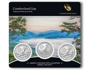 Three-Coin Set of 2016 Cumberland Gap Quarters