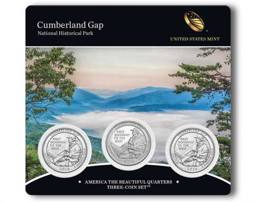 2016 Cumberland Gap National Historical Park Quarters Three-Coin Set