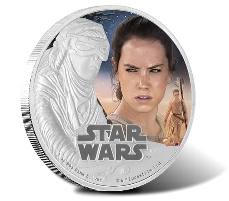 Niue Silver $2 Proof Coin 1 OZ Star Wars The Force Awakens 2019