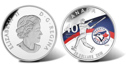2016 Toronto Blue Jays 40th Season 1 oz Silver Proof Coin