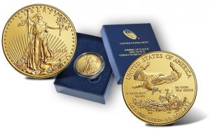 2016-W Uncirculated American Gold Eagle and Case