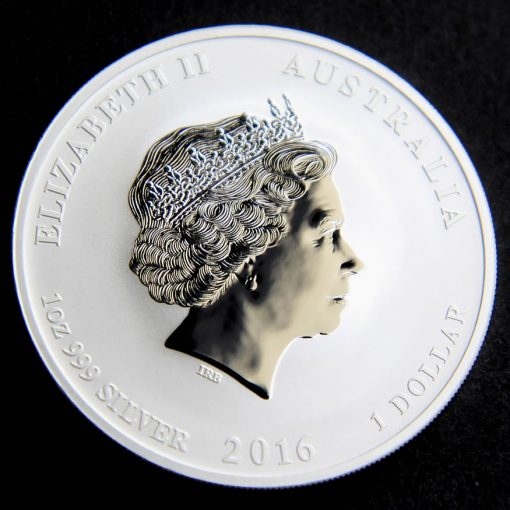 2016 Year of the Monkey Silver Bullion Lion Privy Coin, Obverse