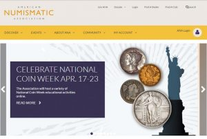 ANA website promoting National Coin Week
