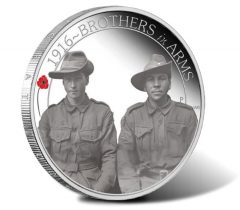 ANZAC Spirit 100th Anniversary 2016 Brothers in Arms Silver Proof Coin