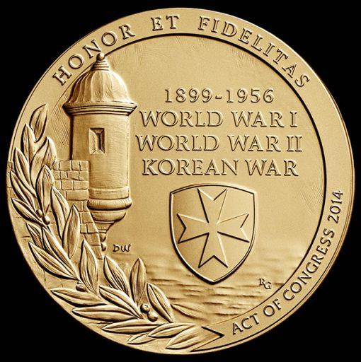 Borinqueneers medal, reversejpg