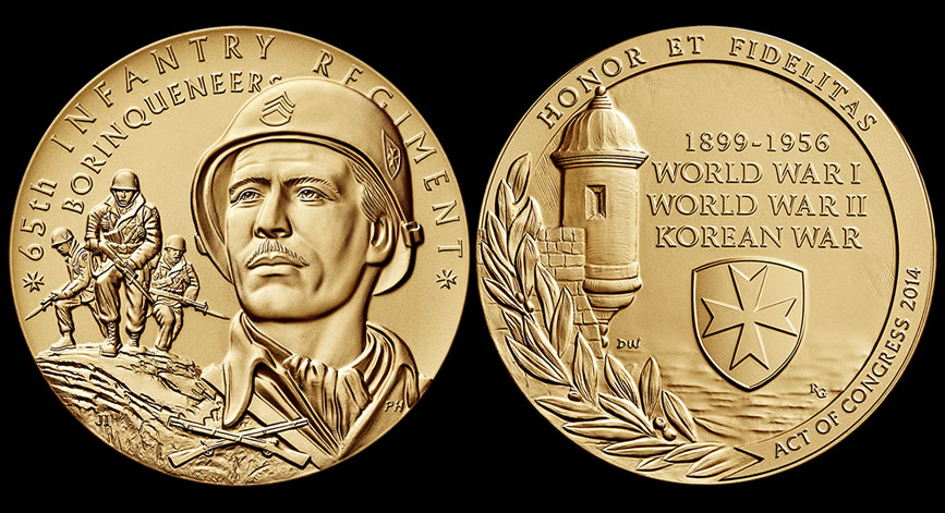The united states mint struck the congressional gold medal for the