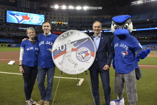 Coin unveiling at Rogers Centre