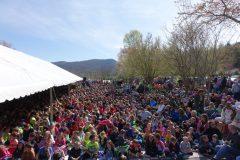 Crowd at Cumberland Gap Quarter Ceremony