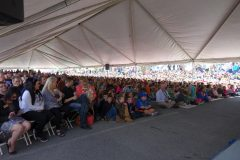 Crowd at Cumberland Gap Quarter Ceremony, a