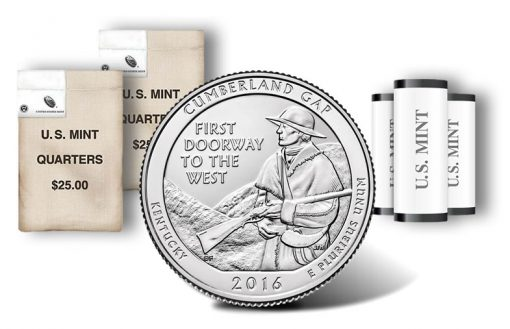 Cumberland Gap National Historical Park quarters, rolls and bags