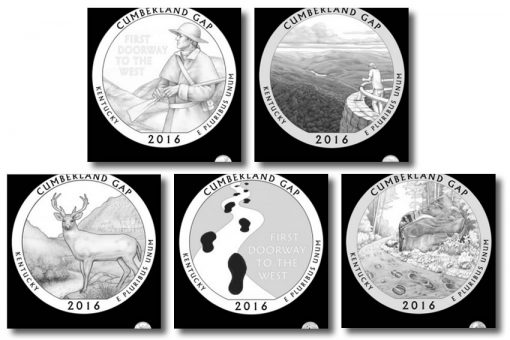 Design candidates for the Cumberland Gap National Historical Park Quarter