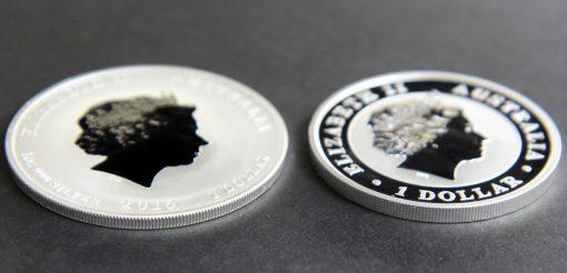 Edges of Australian 2016 Lion and Monkey Privy Mark Bullion Coins