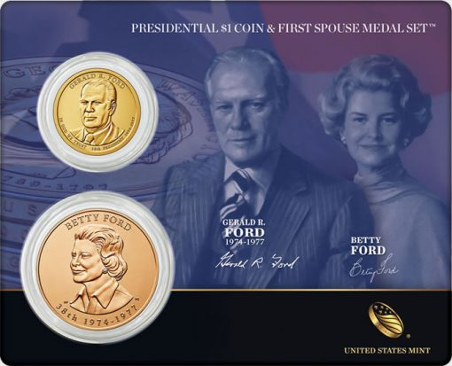 Ford Presidential $1 Coin and First Spouse Medal Set