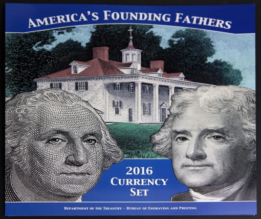 Front Cover of America's Founding Fathers 2016 Currency Set