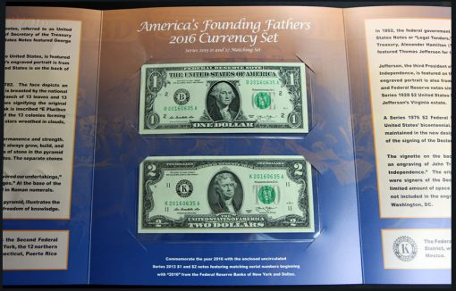 Inside Center of America's Founding Fathers 2016 Currency Set