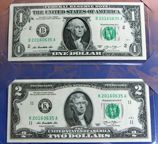 Money in America's Founding Fathers 2016 Currency Set