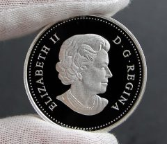 Photo of Canadian 2016 Cherry Blossoms Silver Coin, Obverse