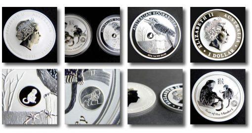 Photos of 2016 Year of the Monkey and Kookaburra Privy Mark Bullion Coins