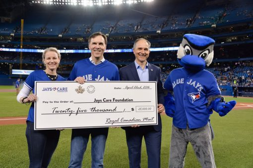 RCM donation to foundation at Rogers Centre