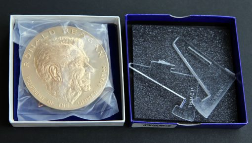Ronald Reagan Bronze 3-Inch Medal Packaging