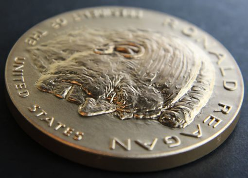 Ronald Reagan Bronze 3-inch Medal, Obverse Side