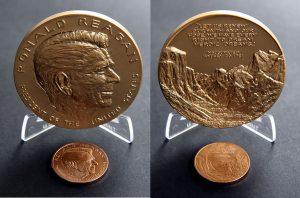 Ronald Reagan Bronze Medal Photos