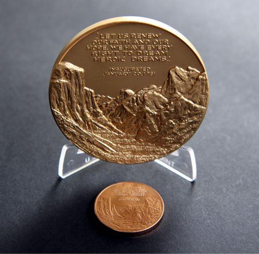 Ronald Reagan Bronze Medals, Reverses