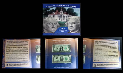 Sections of America's Founding Fathers 2016 Currency Set