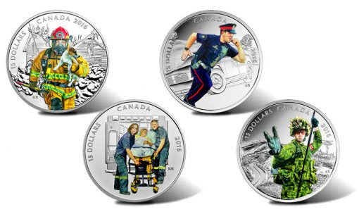 2016 $15 Canadian National Heroes Coins