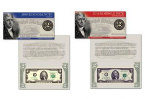 2016 $2 Single Note Collection Includes Two Banknotes