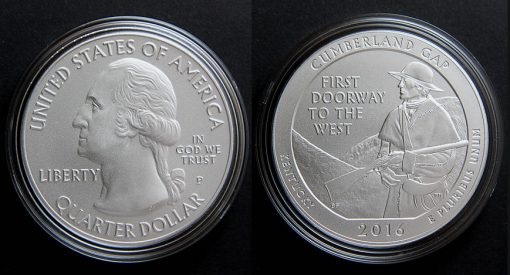 2016-P Cumberland Gap Five Ounce Silver Uncirculated Coin