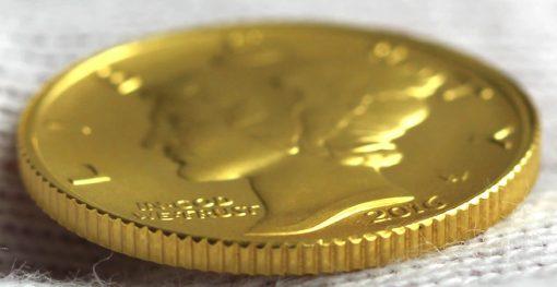 2016-W Mercury Dime Centennial Gold Coin, Edge and Rim