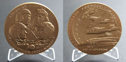 American Fighter Aces 3-Inch Bronze Medal