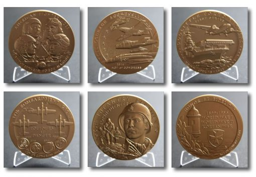 American Fighter Aces, Doolittle Tokyo Raiders, and Borinqueneers 3.0-Inch Bronze Medals