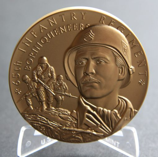 Borinqueneers 3-Inch Bronze Medal, Obverse