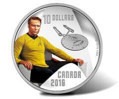 Canadian 2016 $10 Captain Kirk Silver Coin