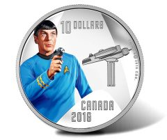 Canadian 2016 $10 Spock Silver Coin