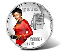 Canadian 2016 $10 Uhura Silver Coin